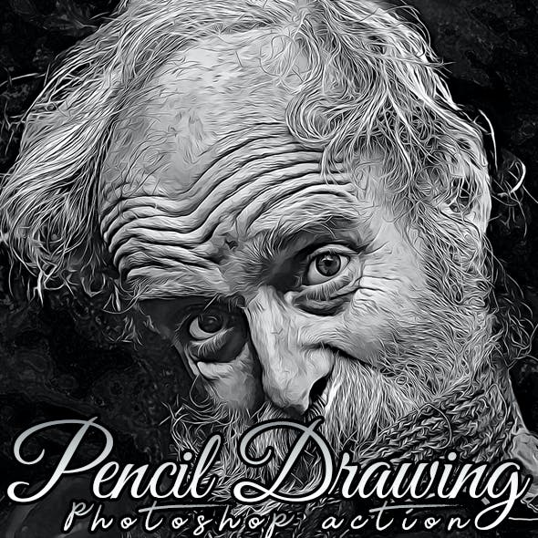 Pencil Drawing Painting Photoshop Action