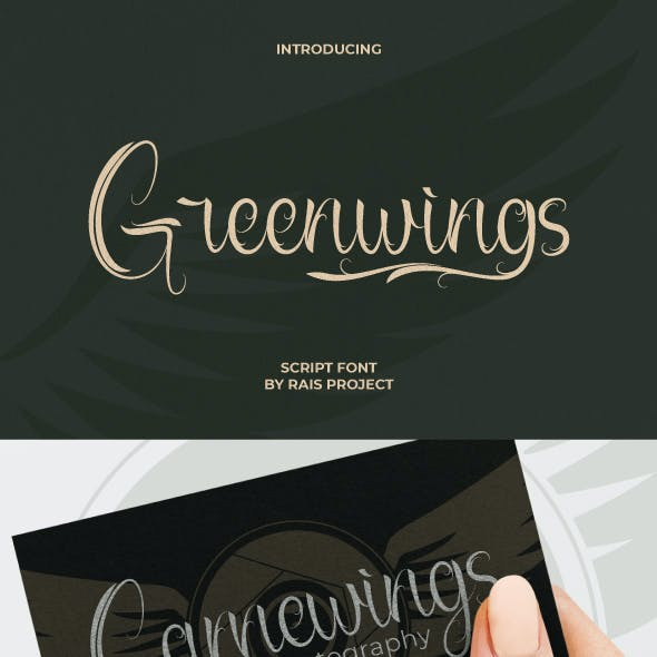 Greenwings Curly Vintage Font