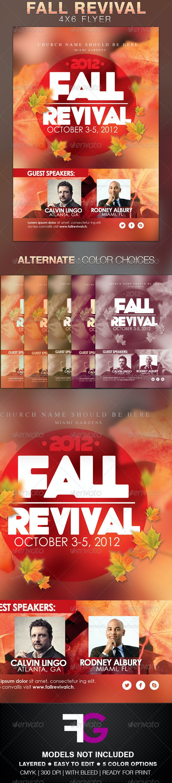 Fall Revival Flyer Template - Church Flyers