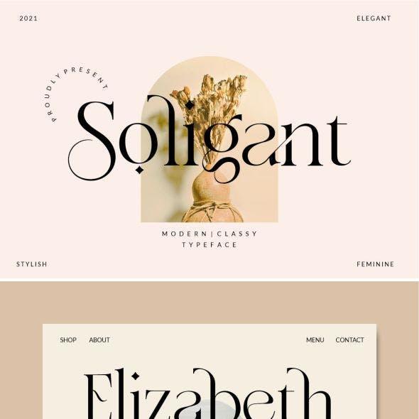 Soligant - Display Serif Font