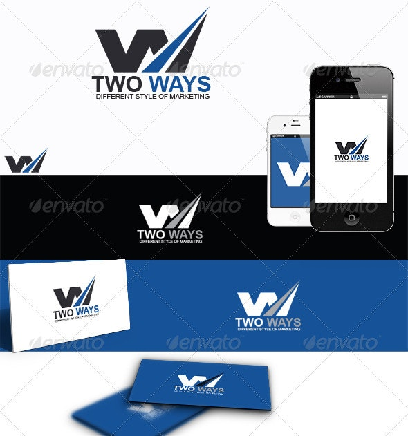 Two Ways - Letters Logo Templates