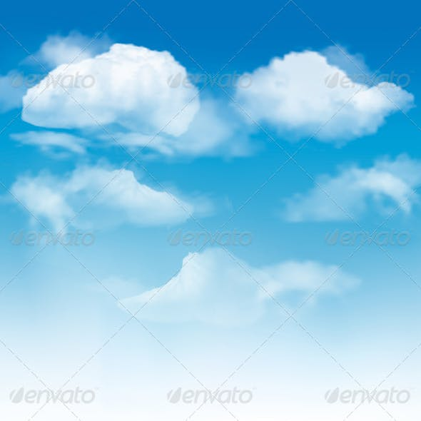Sky background with clouds