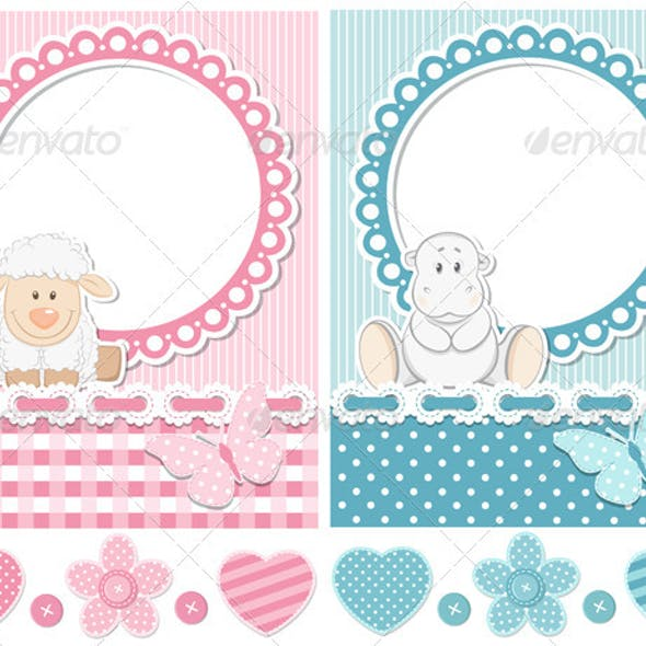 Happy Baby Sheep And Hippo Scrapbook Set