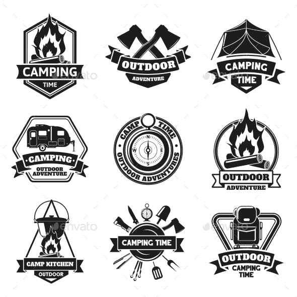 Camping Outdoor Emblems