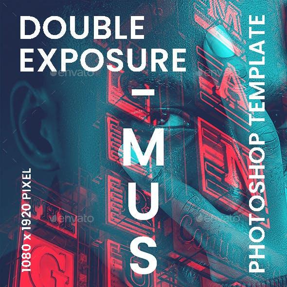 Double Exposure Photo Template