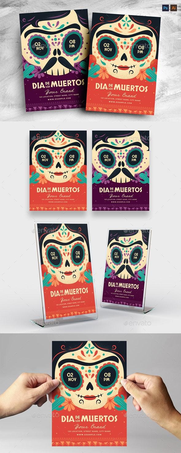 Dia De Los Muertos Flyer Template - Holidays Events