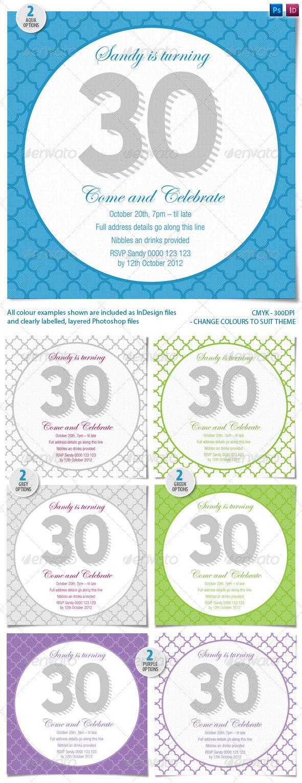 Elegant Geometric Birthday Invitation - Invitations Cards & Invites