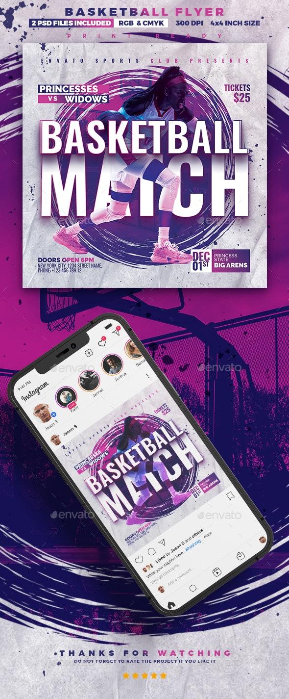 Basketball Match | Sport Flyer - Sports Events