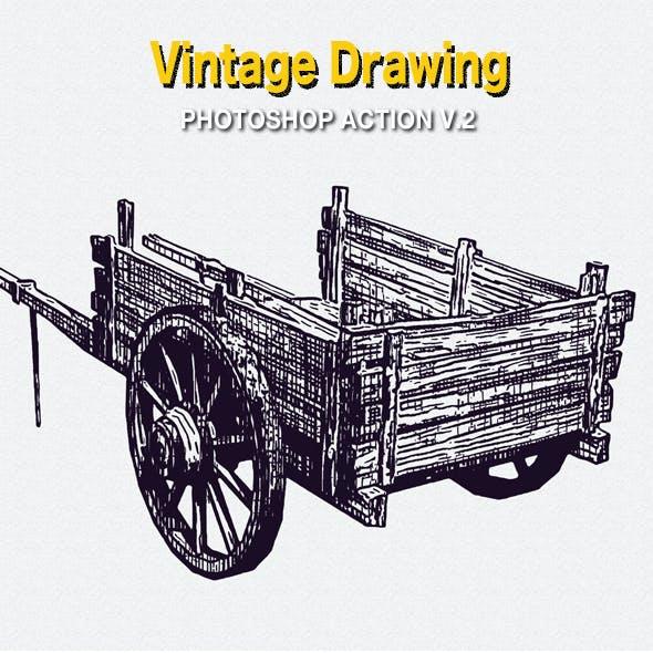 Vintage Drawing Photoshop Action V.2