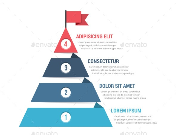 4 Steps to Success - Infographics