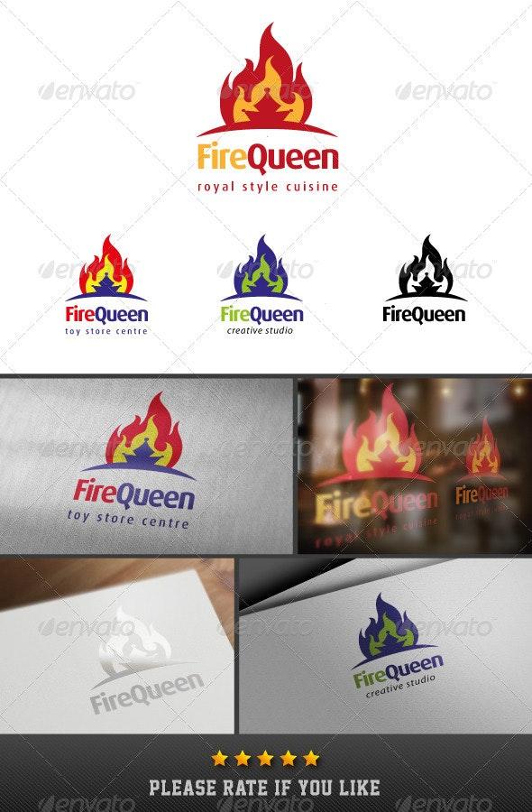 Fire Queen Logo - Objects Logo Templates