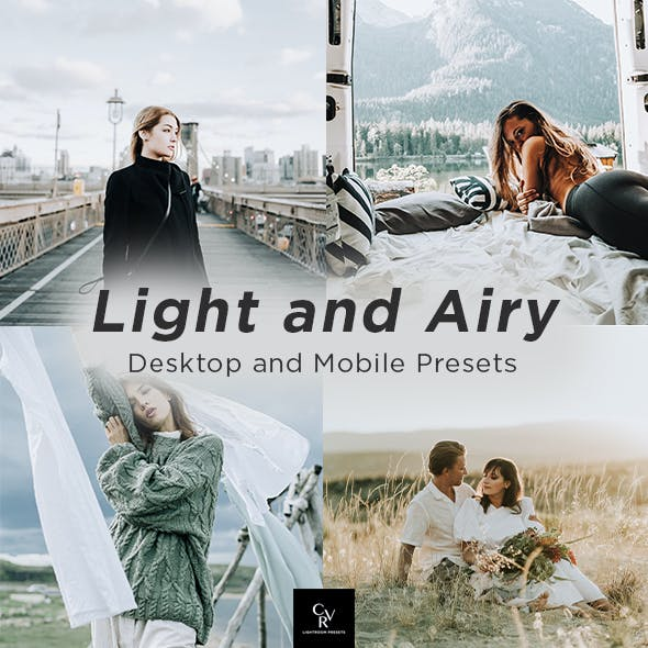 6 Light and Airy Lightroom Presets