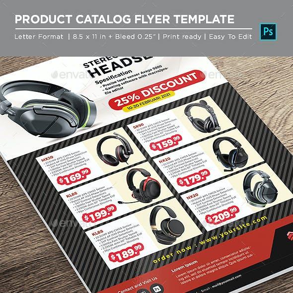 Catalog Product Flyer- HeadPhone Electronic