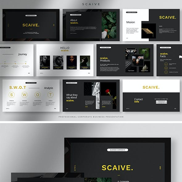 Scaive - Clean Professional Corporate Business Presentation