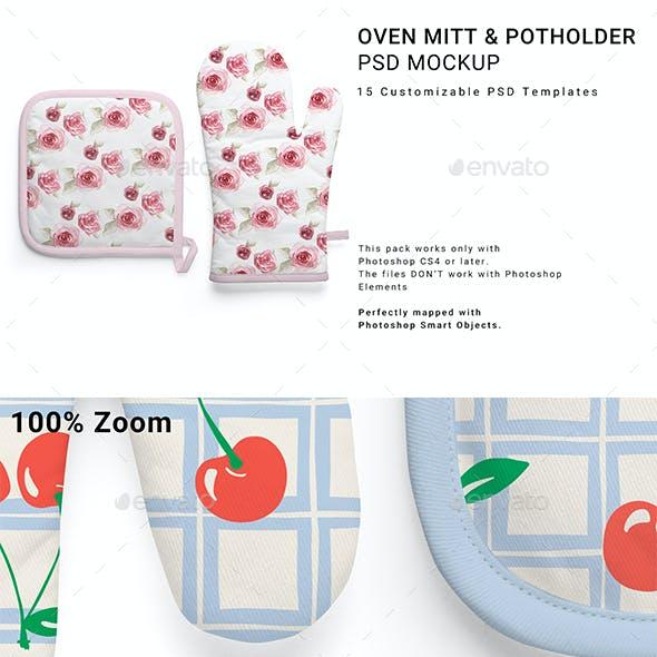 Oven Mitt and Potholder Mockup Set