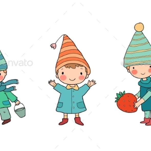 Cute Cartoon Gnomes