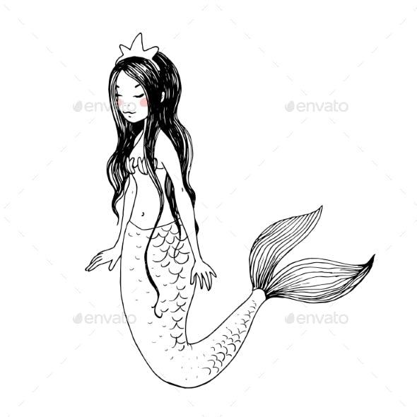 Cute Cartoon Mermaids