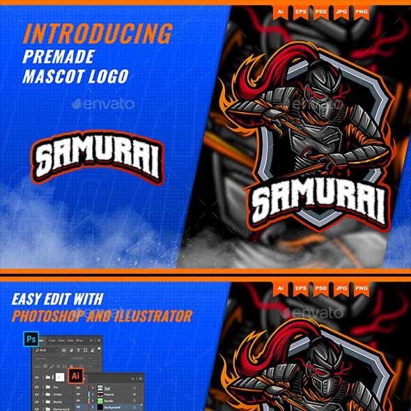 Samurai Warrior - Mascot Esport Logo Template