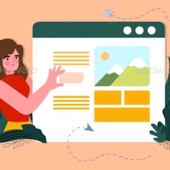 Web Designer or Programmer Concept