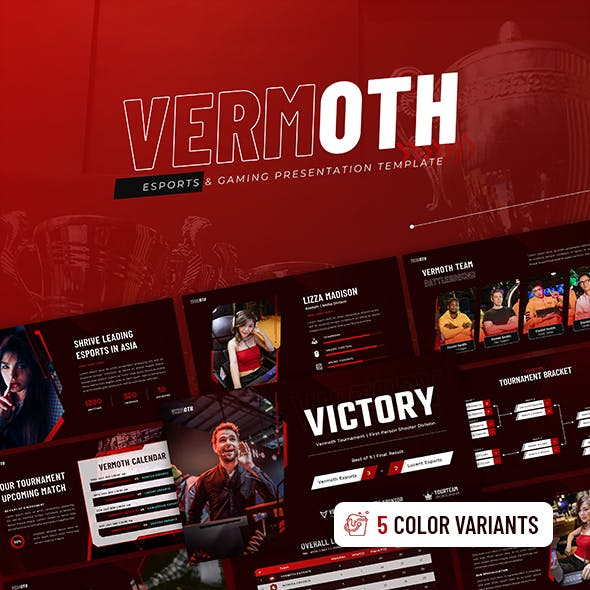 Vermoth – Esports & Gaming PowerPoint Template