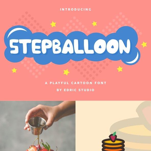 Stepballoon Cartoon Font