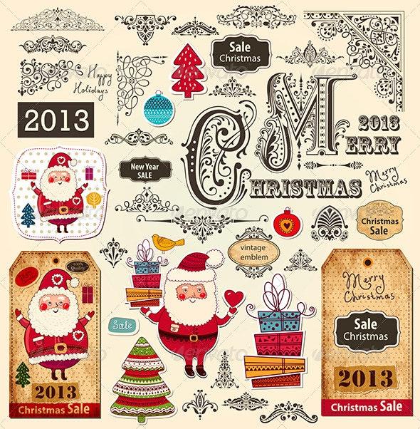 Vector collection of Christmas Ornaments - Christmas Seasons/Holidays