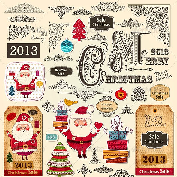 Vector collection of Christmas Ornaments