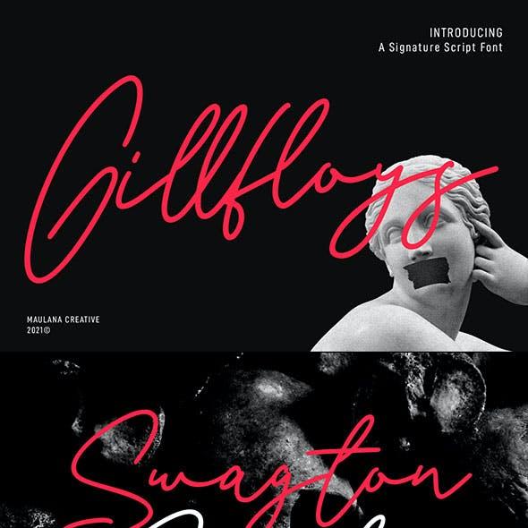 Gillfloys Signature Font