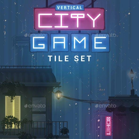 Vertical City Game Tile Set