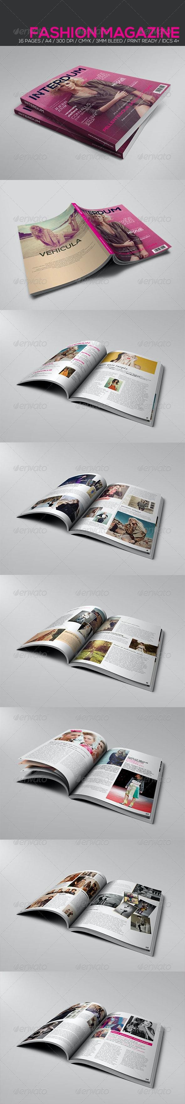 Fashion Magazine Template - Magazines Print Templates