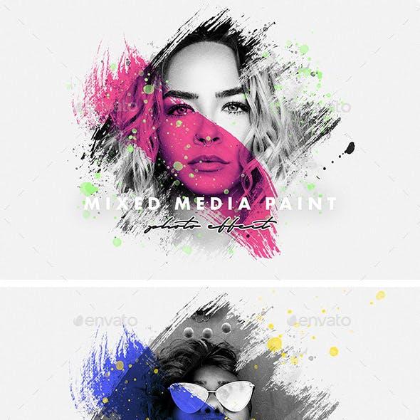 Mixed Media Paint Photo Effect