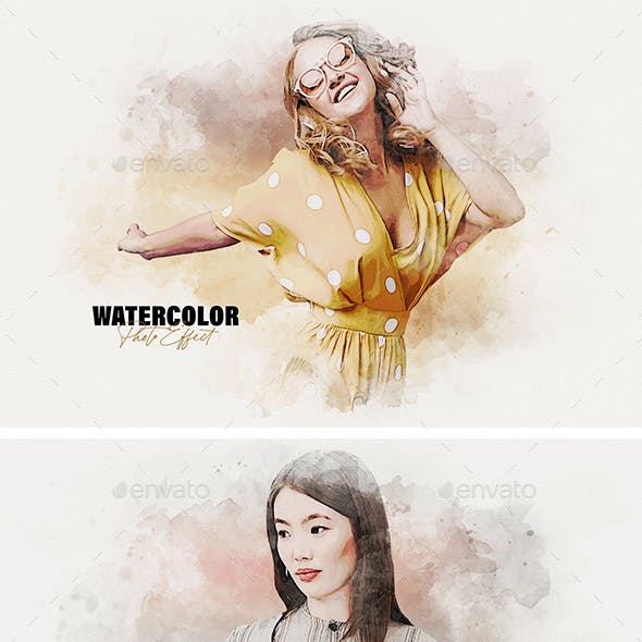 Watercolor Stains Photo Effect