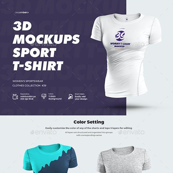 4 Sports 3D Mockup T-Shirt