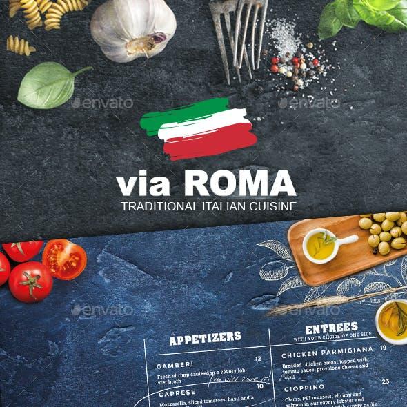 Beautiful Italian Restaurant Menu