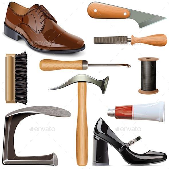 Vector Shoemaker Tools Set