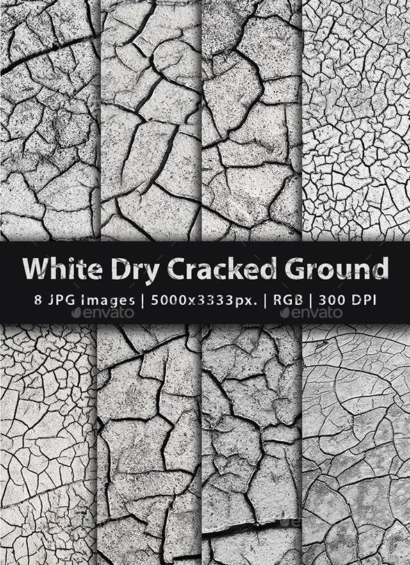 White Dry Cracked Ground - Concrete Textures