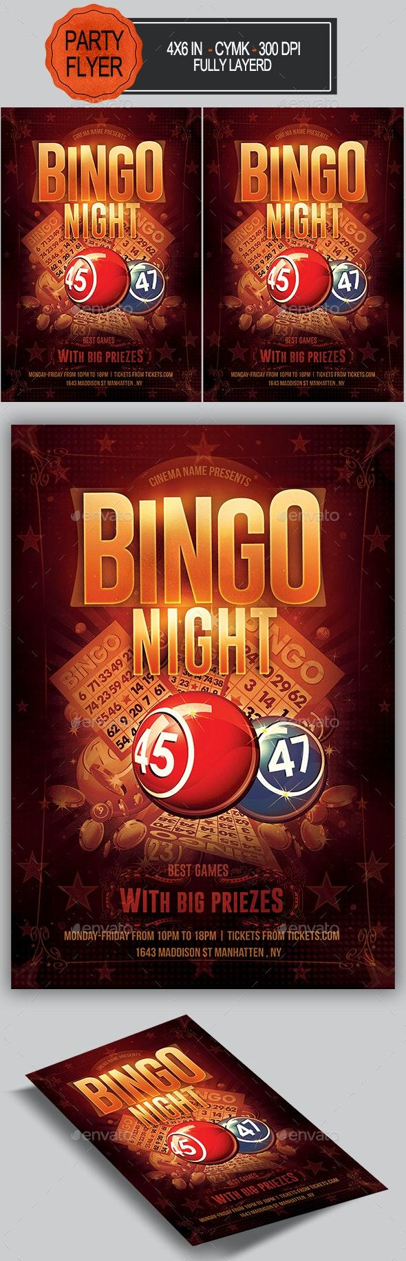 Bingo Flyer - Clubs & Parties Events