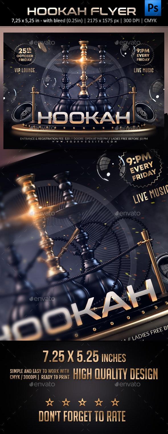 Hookah Flyer - Clubs & Parties Events