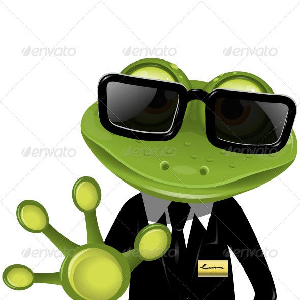 Frog security guard2