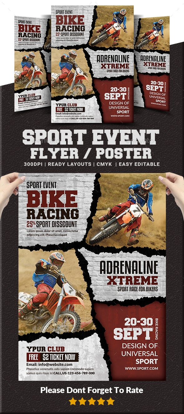Sport Event Flyer / Poster Templates - Sports Events