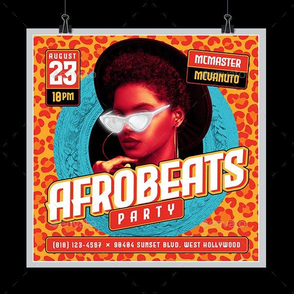Afrobeats Party Flyer
