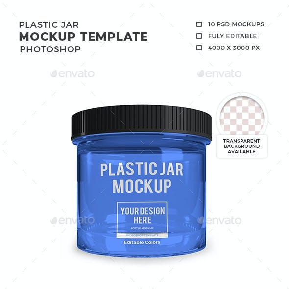 Plastic Jar Mockup Template Set