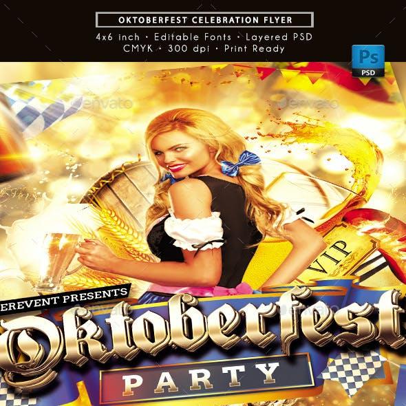 Oktoberfest Celebration Party Flyer