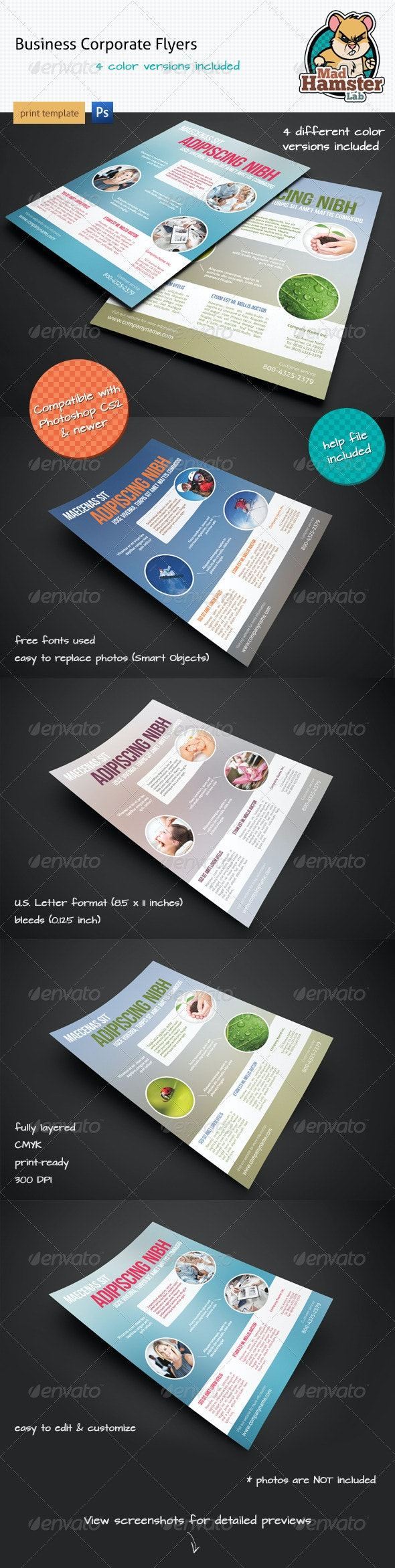 Modern Corporate Flyers / Magazine Ads - Corporate Flyers