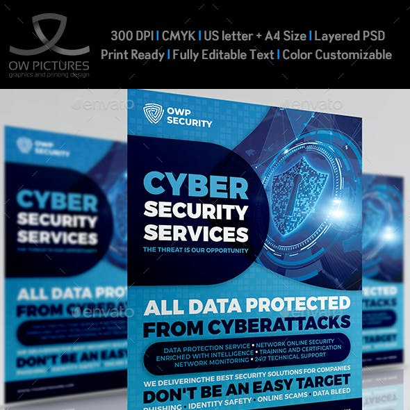 Cyber Security Services Flyer Template