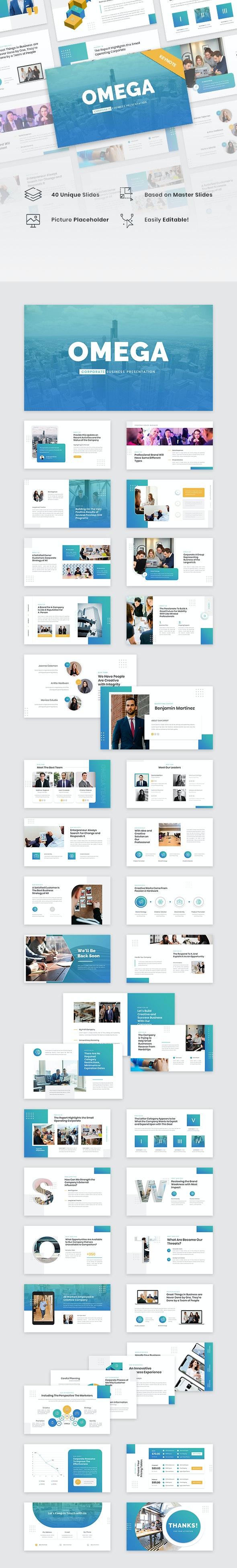Omega - Corporate Business Keynote Template - Business Keynote Templates