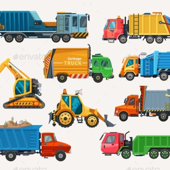 Dump Trucks and Loaders Construction Machinery