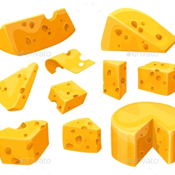 Cheese Heads and Slices or Lumps with Holes