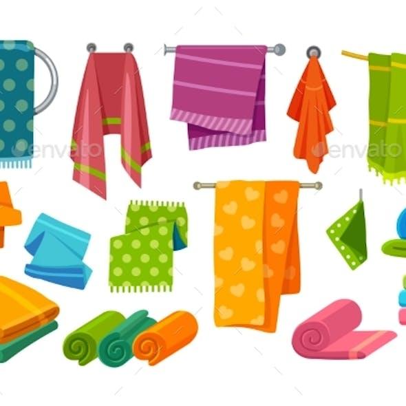 Towels for Bathroom and Bathing Fabrics Set