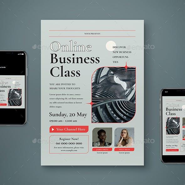 Online Business Class Flyer Set